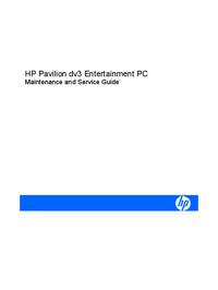 Manual de serviço HewlettPackard Pavilion dv3