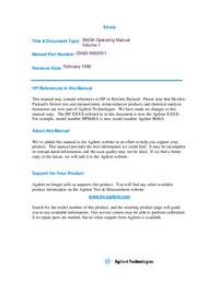 User Manual HewlettPackard 3563A