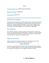 User Manual HewlettPackard 8592A