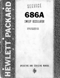 Service and User Manual HewlettPackard 686A