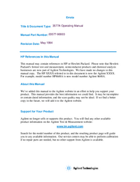 Bedienungsanleitung HewlettPackard 35677B