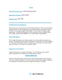 Manual do Usuário HewlettPackard 3457A