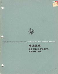 Servicio y Manual del usuario HewlettPackard 425A