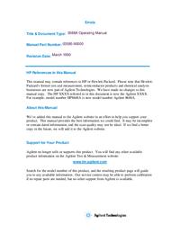 Bedienungsanleitung HewlettPackard 3588A