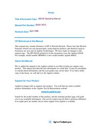 User Manual HewlettPackard 5061B