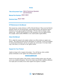 Bedienungsanleitung mit Schaltplan HewlettPackard 5061A