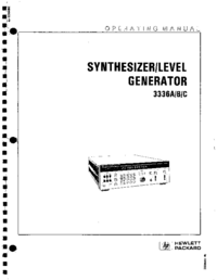 User Manual HewlettPackard 3336B