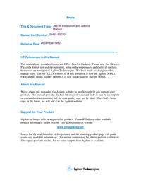 Servicio y Manual del usuario HewlettPackard 3497A