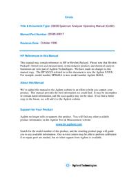 Manuale d'uso HewlettPackard 3585B