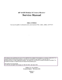 Manual de servicio HewlettPackard 4142B