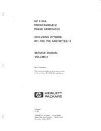 Manual de serviço HewlettPackard 8160A