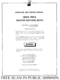 Service and User Manual HewlettPackard 312B