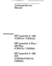 Manual de servicio HewlettPackard LaserJet 4