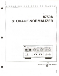 Service and User Manual HewlettPackard 8750A