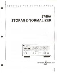 Serwis i User Manual HewlettPackard 8750A