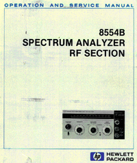 Serwis i User Manual HewlettPackard 8554B