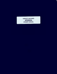 Serwis i User Manual HewlettPackard 8555A