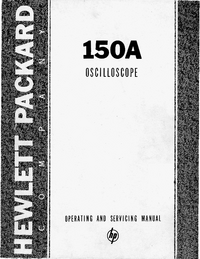 Service and User Manual HewlettPackard 152A