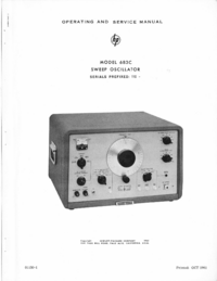 Service and User Manual HewlettPackard 683C