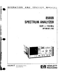 Servizio e manuale utente HewlettPackard 8569B