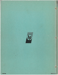 Service and User Manual HewlettPackard 107BR