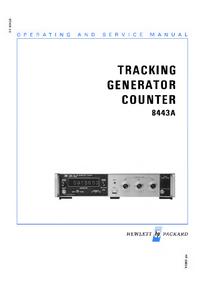 Servicio y Manual del usuario HewlettPackard 8443A