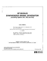 Servizio e manuale utente HewlettPackard 8642A