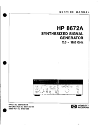 Manual de servicio HewlettPackard 8672A