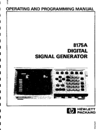 User Manual HewlettPackard 8175A