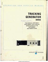Manuale di servizio HewlettPackard 8444A