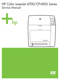 manuel de réparation HewlettPackard Color LaserJet CP4005 Series