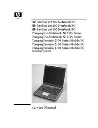 manuel de réparation HewlettPackard Compaq Evo N1050v Series