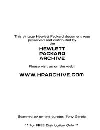 Servizio e manuale utente HewlettPackard 212A
