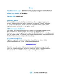 Manuale di servizio HewlettPackard 1345A