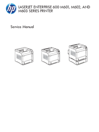 Service Manual HewlettPackard LaserJet Enterprise M601