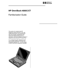 Instrukcja serwisowa HewlettPackard OmniBook 4000C