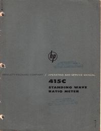 Serviceanleitung HewlettPackard 415C