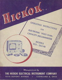 Hickok-3864-Manual-Page-1-Picture