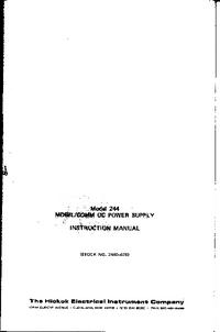 Servizio e manuale utente Hickok 244
