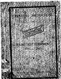 Bedienungsanleitung mit Schaltplan Hickok 510X