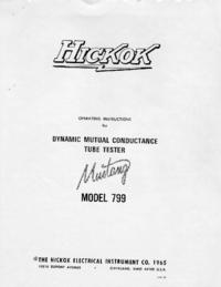 Руководство пользователя, Схема Cirquit Hickok 799 Mustang