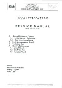 Руководство по техническому обслуживанию Hico Ultrasonat 810