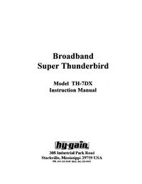 Service- und Bedienungsanleitung HighGain TH-7DX