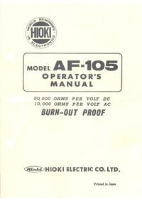 Service-en gebruikershandleiding Hioki AF-105