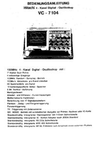 Manual del usuario Hitachi VC-7104