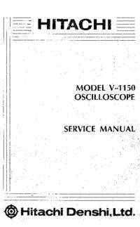 Serviceanleitung Hitachi V-1150