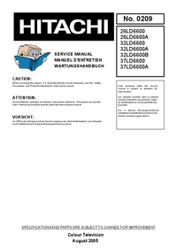 Service Manual Hitachi 37LD6600A