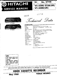 Service Manual Hitachi VT530