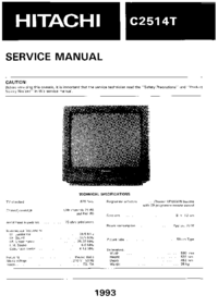 Service Manual Hitachi C2514T