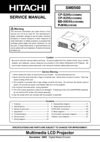 Service Manual Hitachi CP-S245